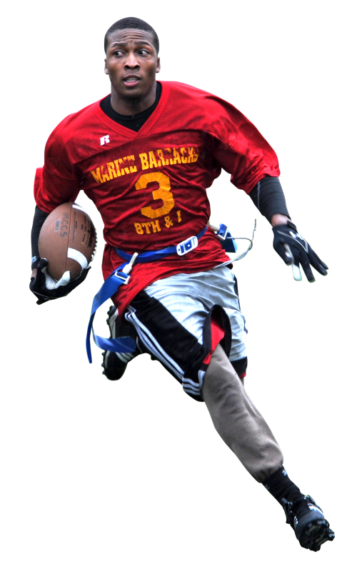 Sports player png. American football transparent image