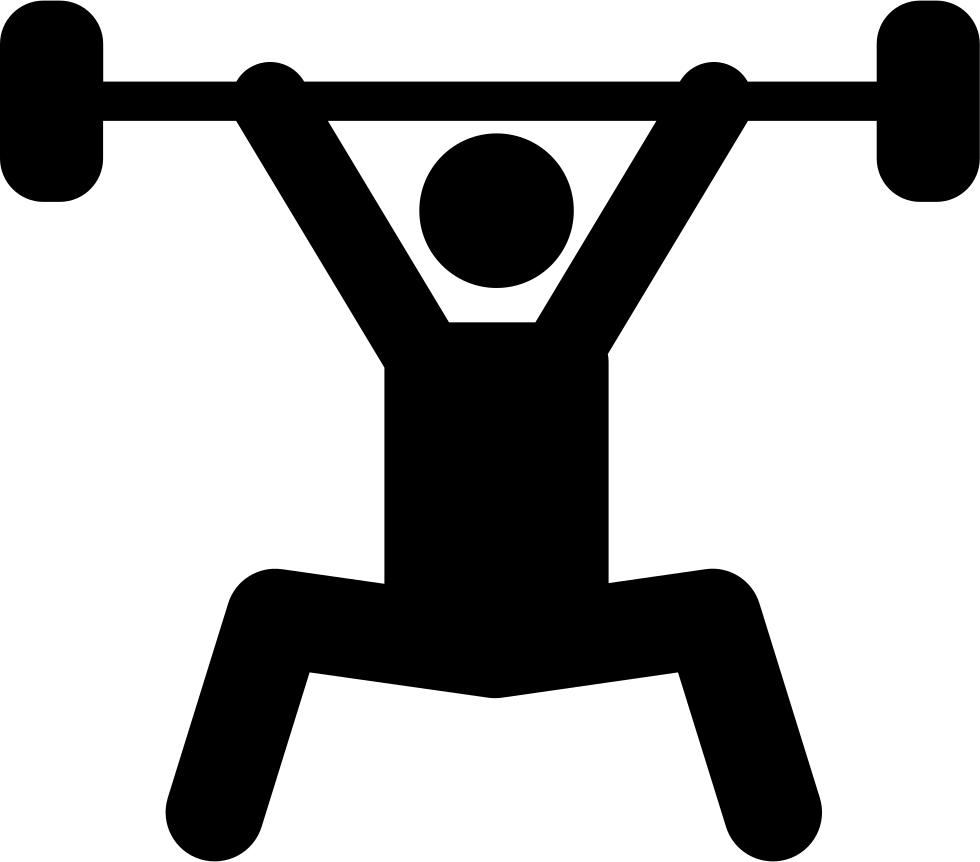 Weights svg silhouette. Weightlifting power sport png