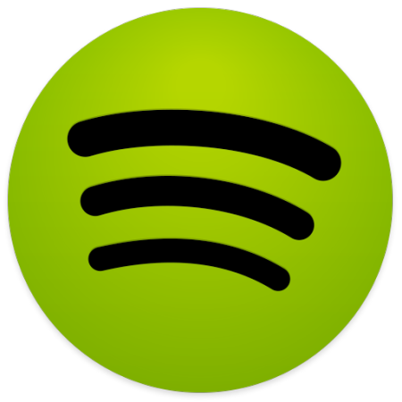Spotify vector small. Green icon image free