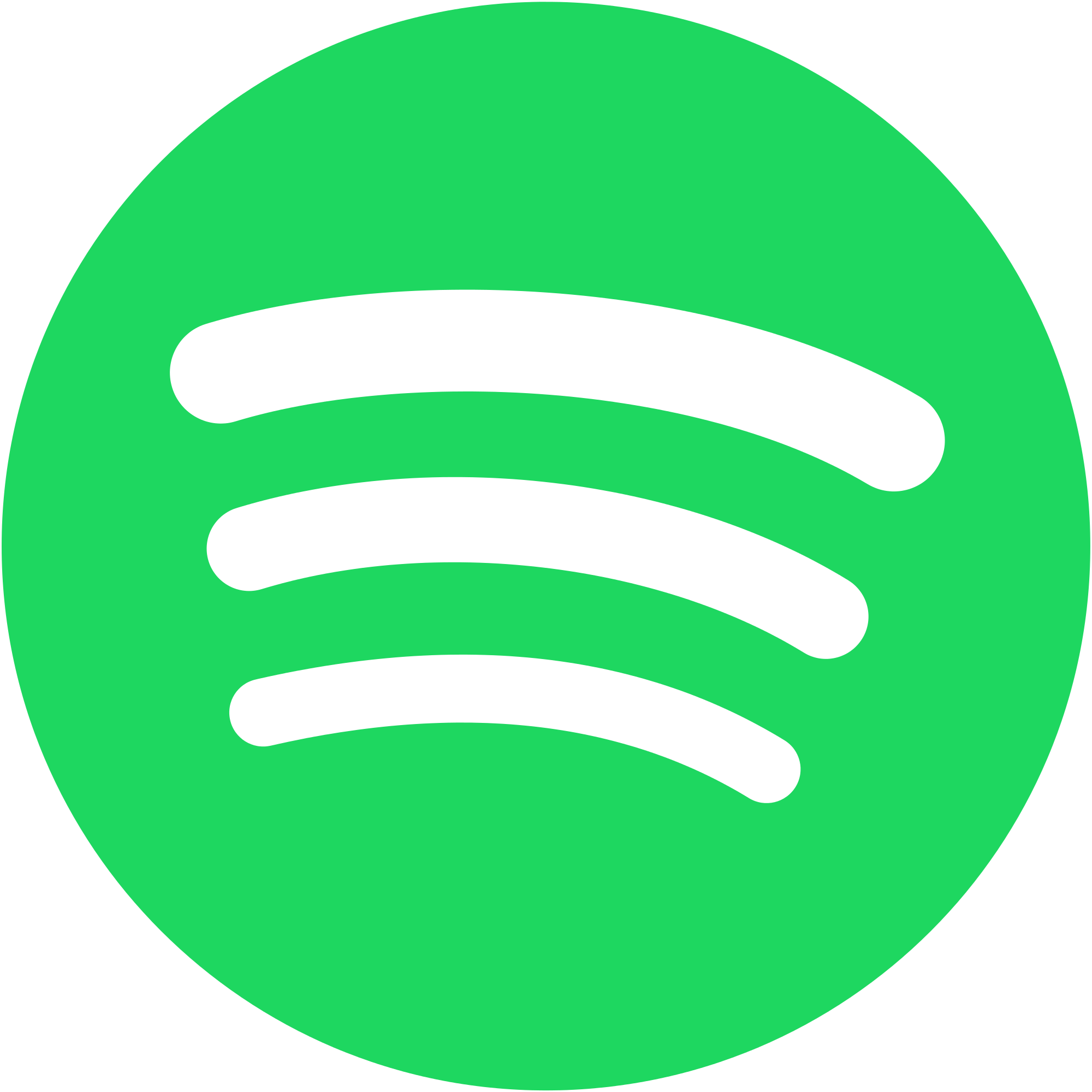Spotify vector stream. Image logo without text