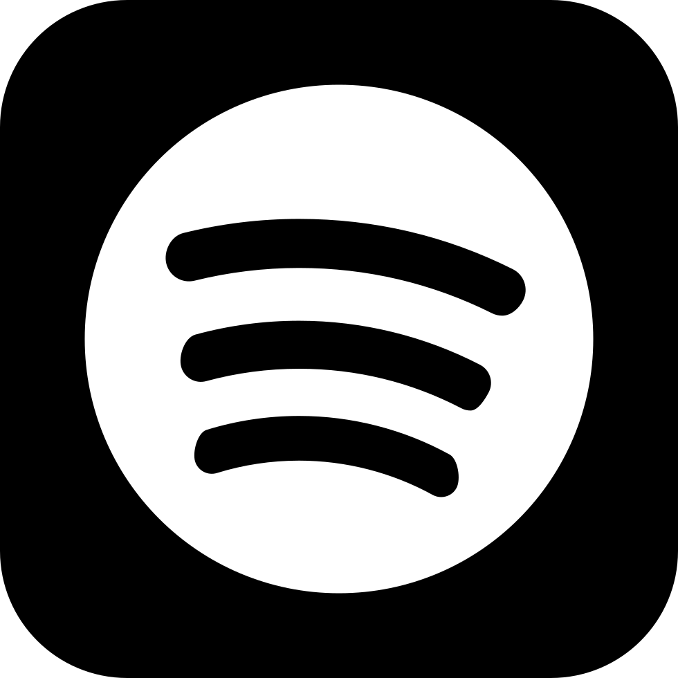 Spotify vector high re. Social square svg png