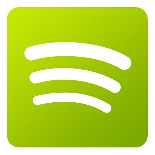 Spotify vector template. Free png download icons