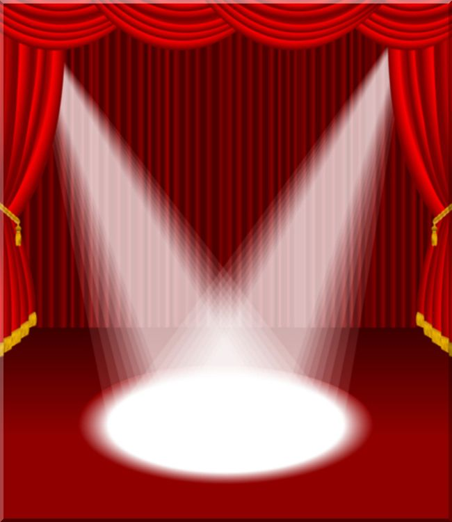 spotlight clipart curtain stage