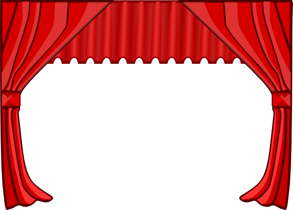 Free stage cliparts download. Curtains clipart simple window banner free download