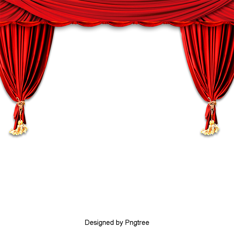 Stage clipart stage curtain. Red png image and