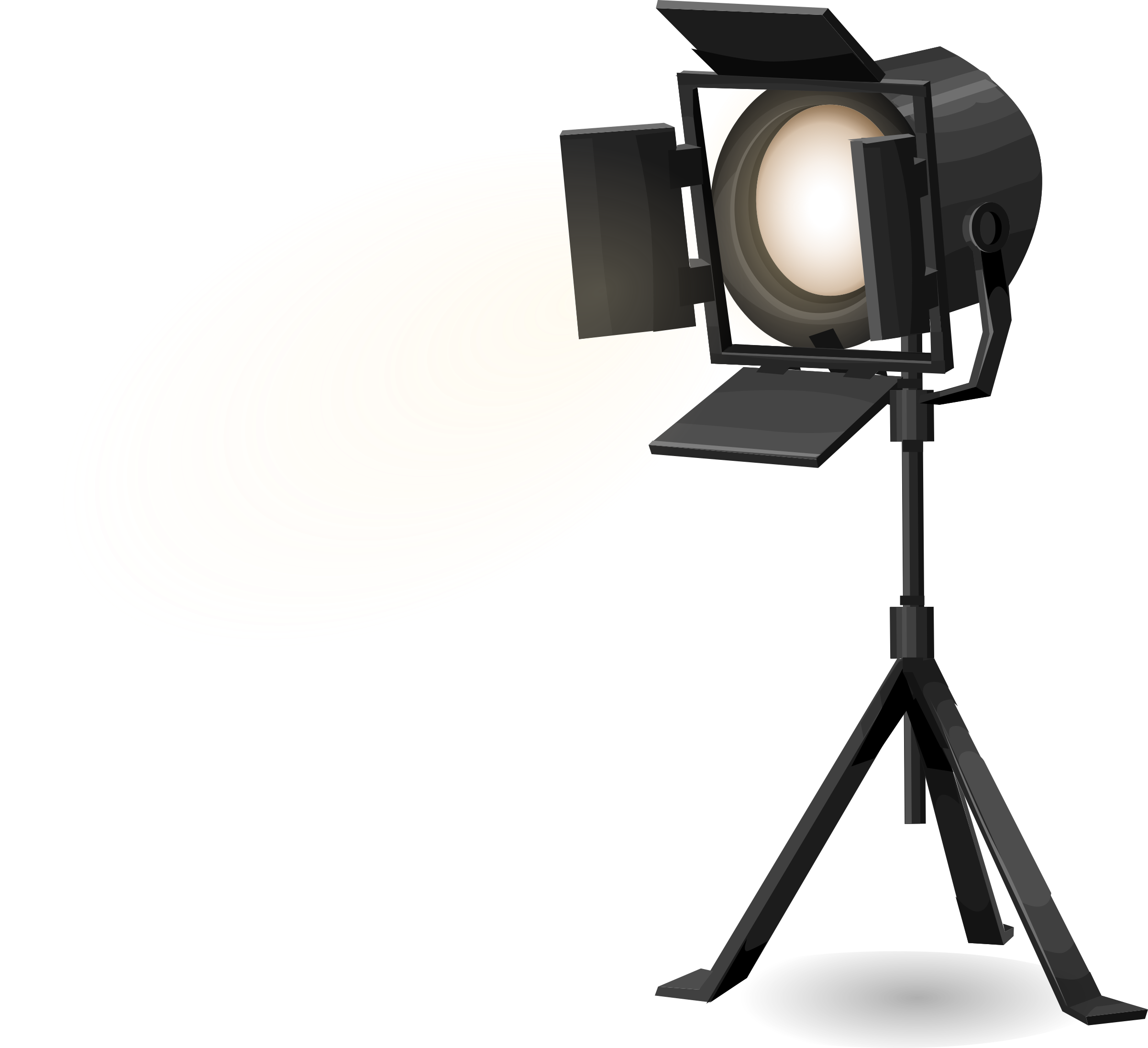 Spotlight .png. Stage on tripod from