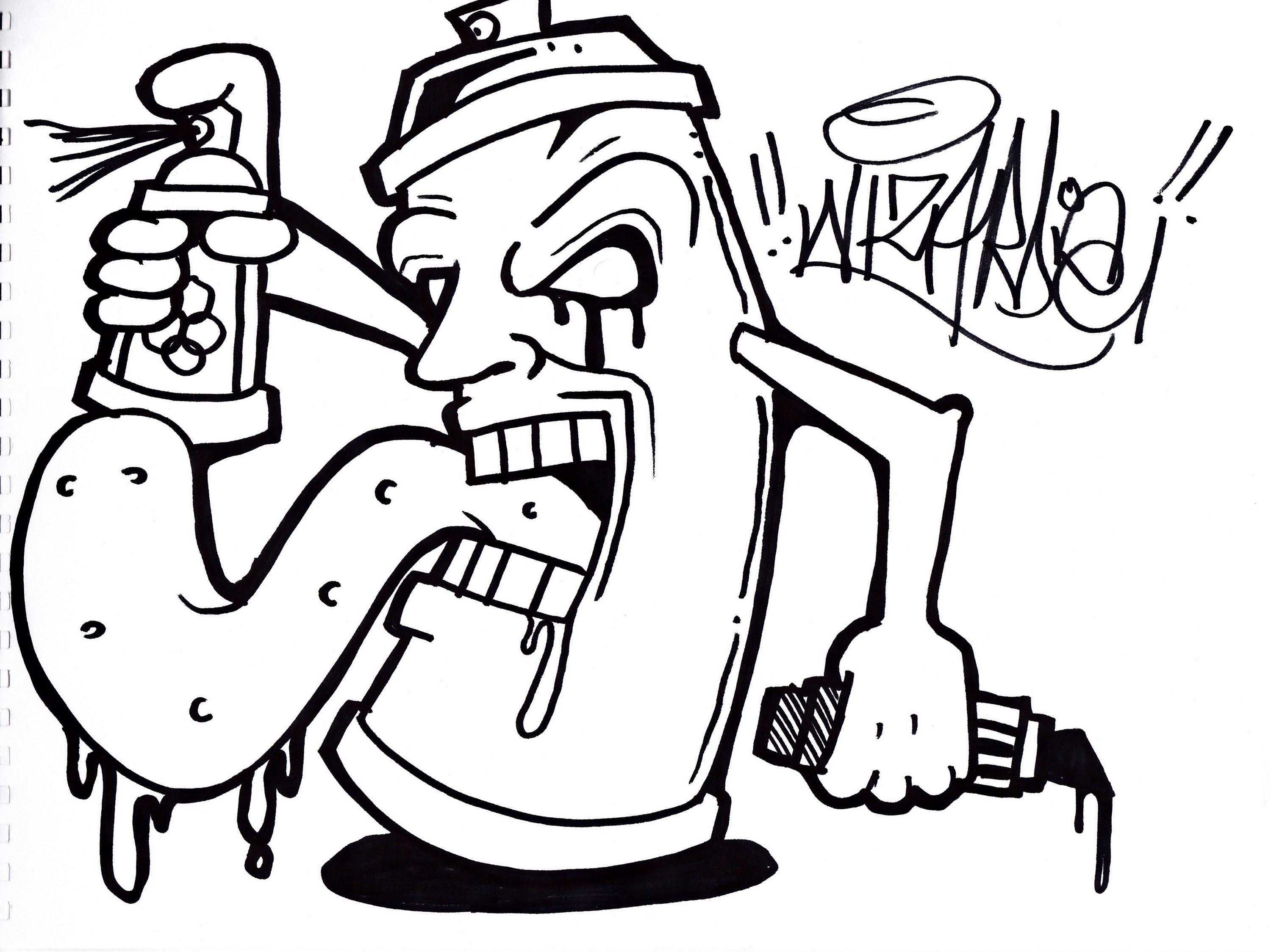 Spray clipart graffiti. Monster font can free