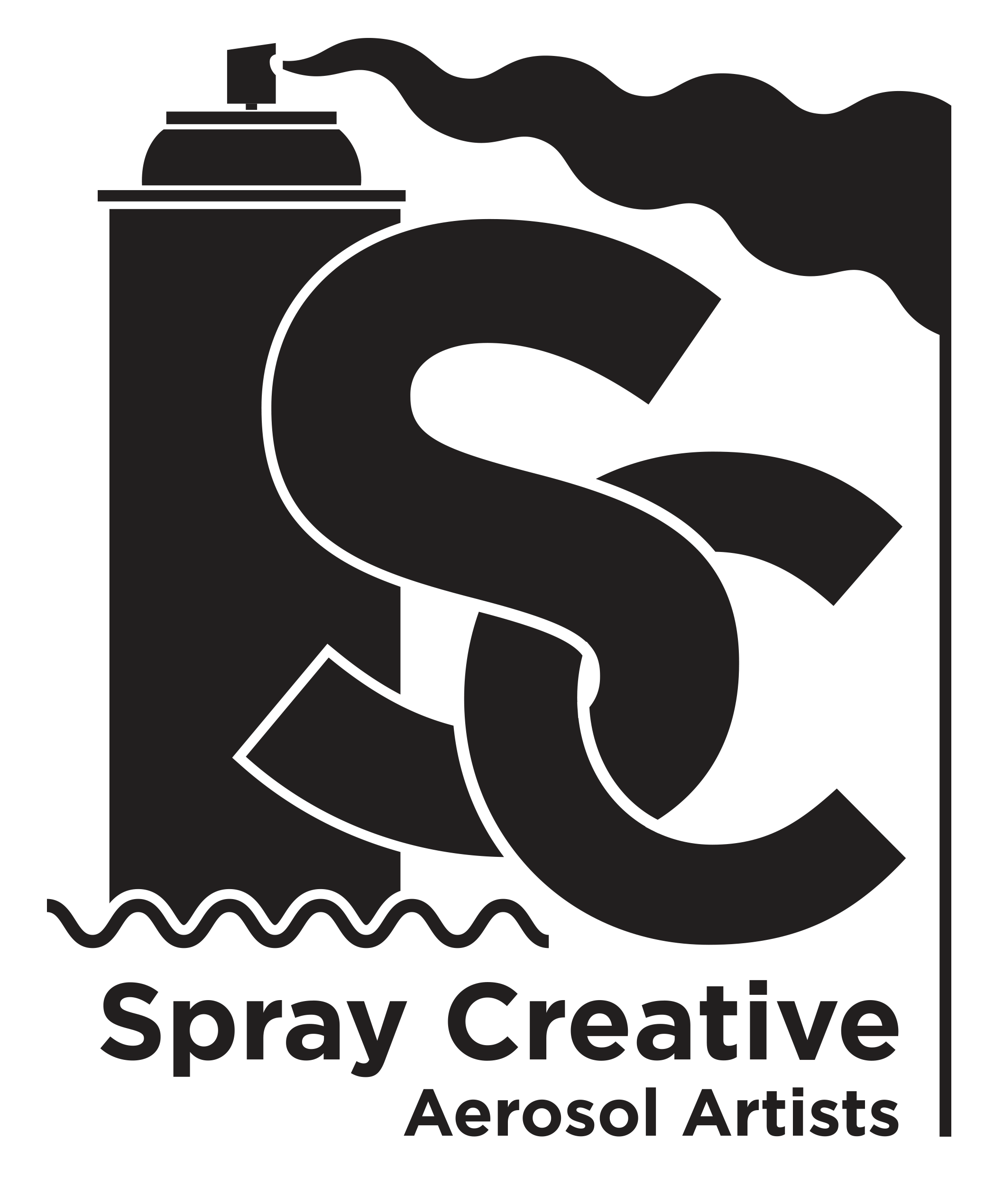 Spray clipart graffiti. Creative aerosol artist mural