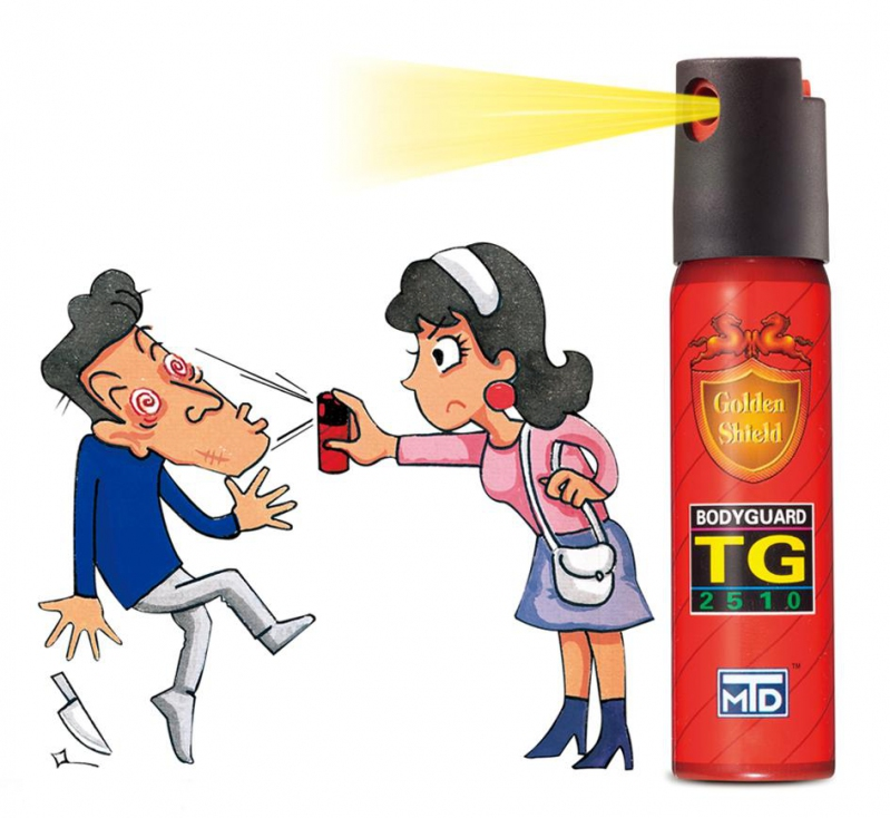 Spray clipart pepper spray. Golden shield bodyguard gas
