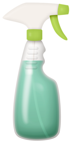 Spray clipart spray bottle. Spring clean time to