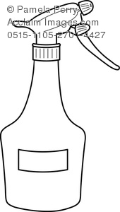 Spray clipart spray bottle. Clip art image of
