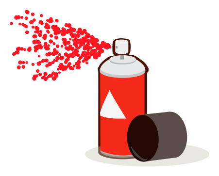 Spray clipart spray can. Paint red household chores