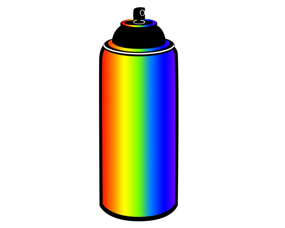 Spray paint can png. Rainbow cutie mark by