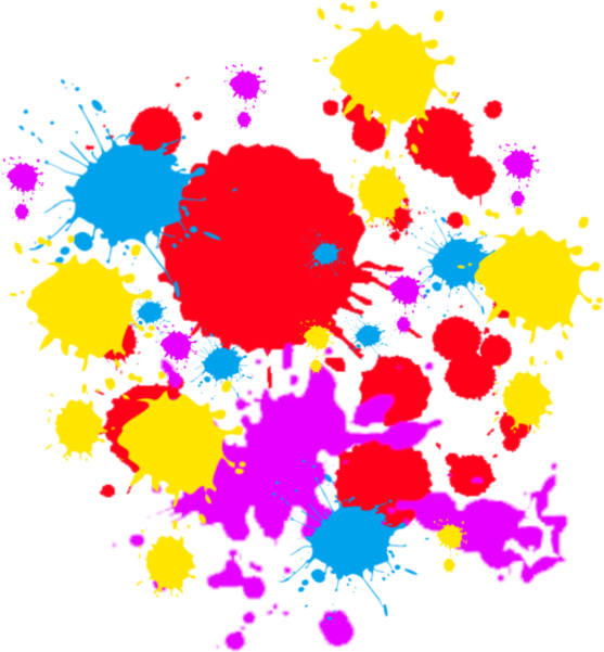 Spray paint splatter png. Download free colorful clipart