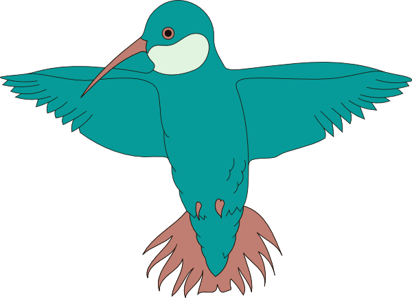 Spread clipart. Hummingbird with wings clip