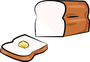Spread clipart butter clipart. Bread and