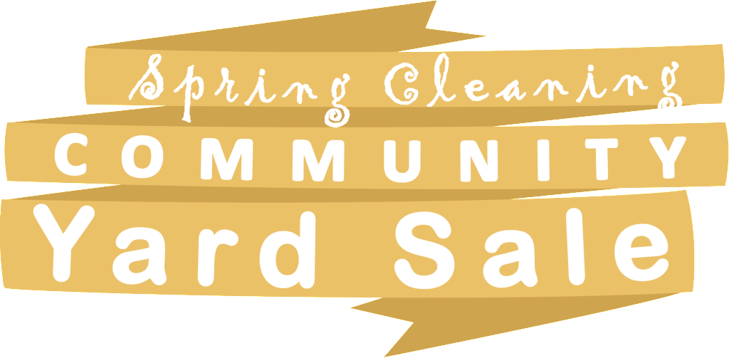 Spring cleaning png. Community yard sale