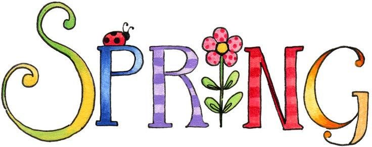 Spring clipart. Signs of