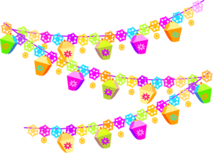 Party garland png. Spring clip art at