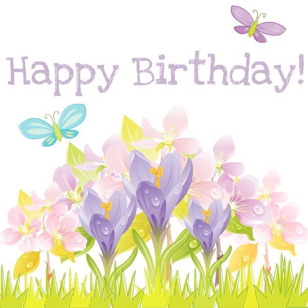 Spring clipart happy birthday. Best images on pinterest