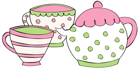 Spring clipart tea. Party free blue and