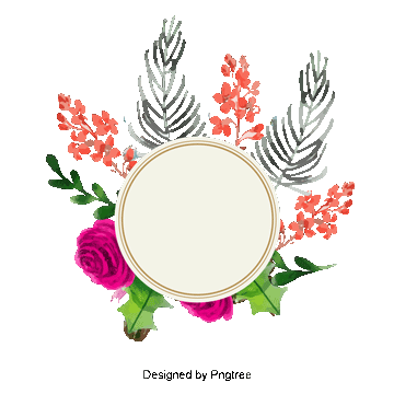Spring flowers border png. Vectors psd and clipart