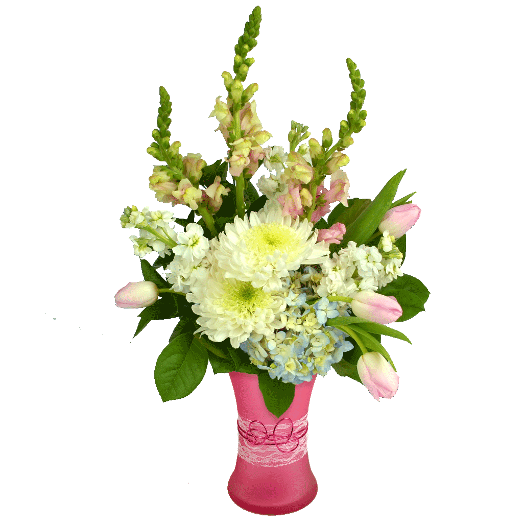 Transparent spring bouquet. Tranquil soft pastels for