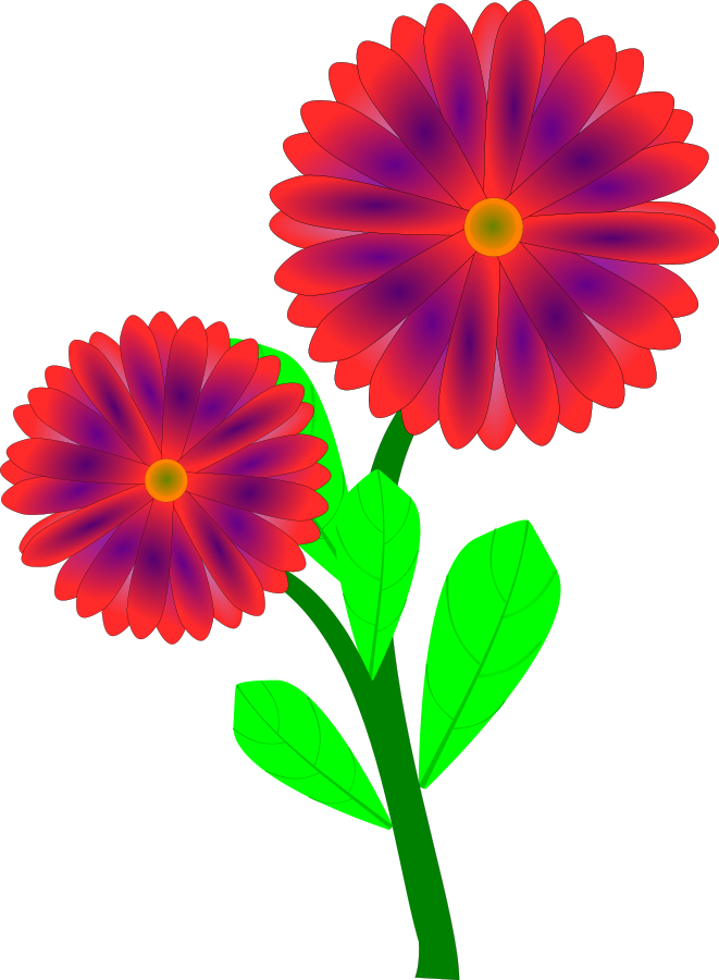 Vase vector red. Free flowers in a