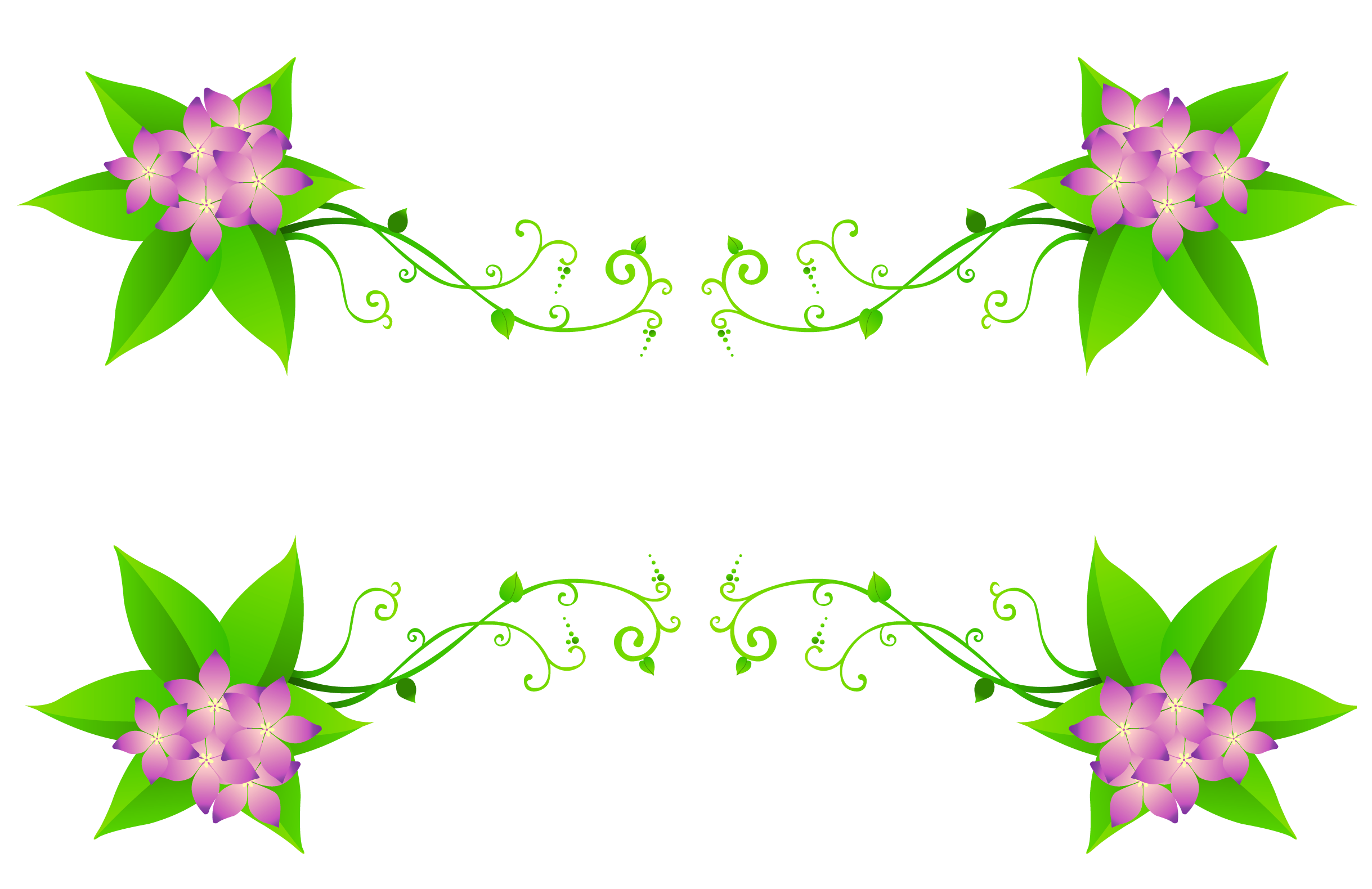 Spring flowers border png. Decoration clipart gallery yopriceville