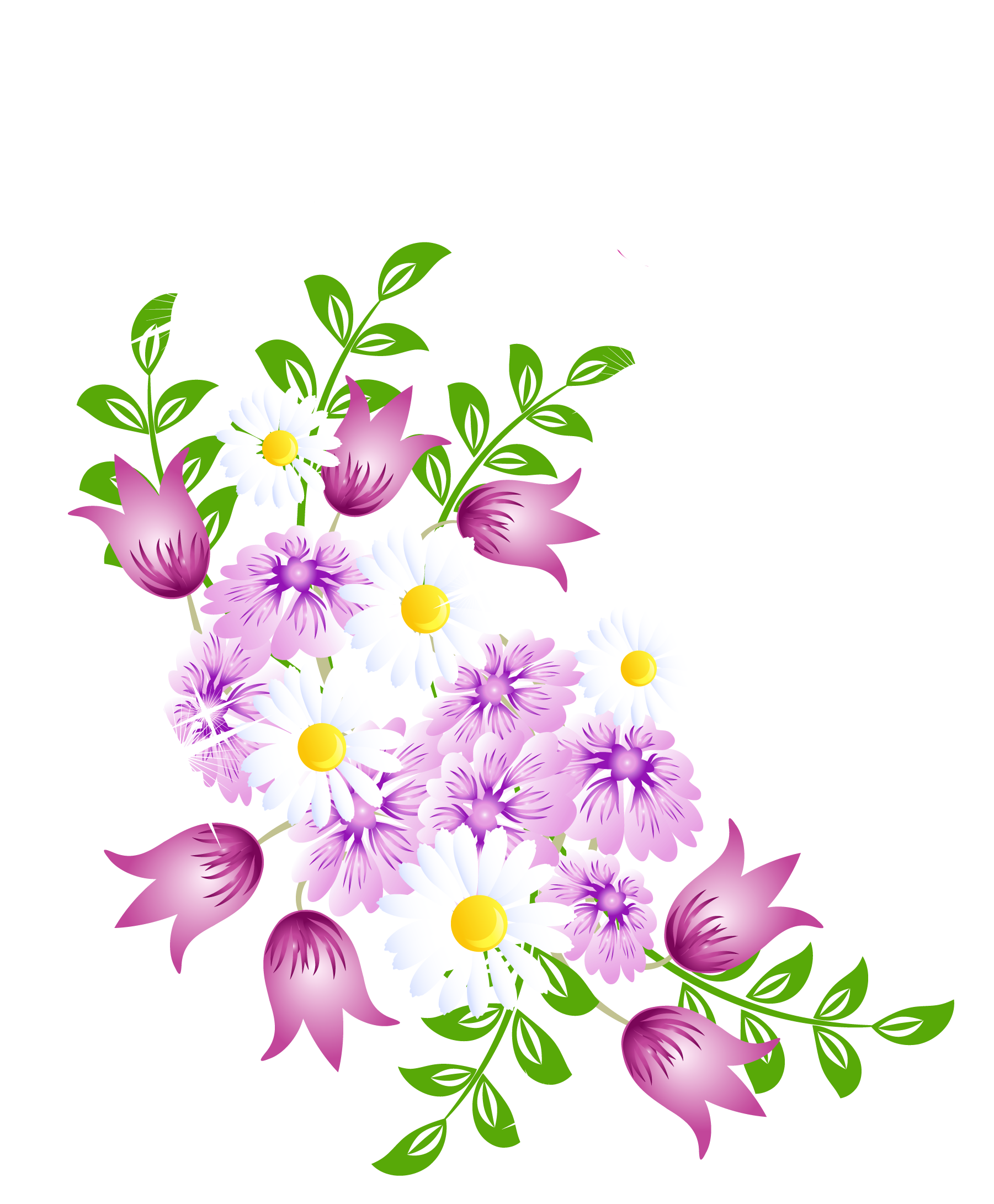 Spring flowers vector png. Decor picture clipart pinterest