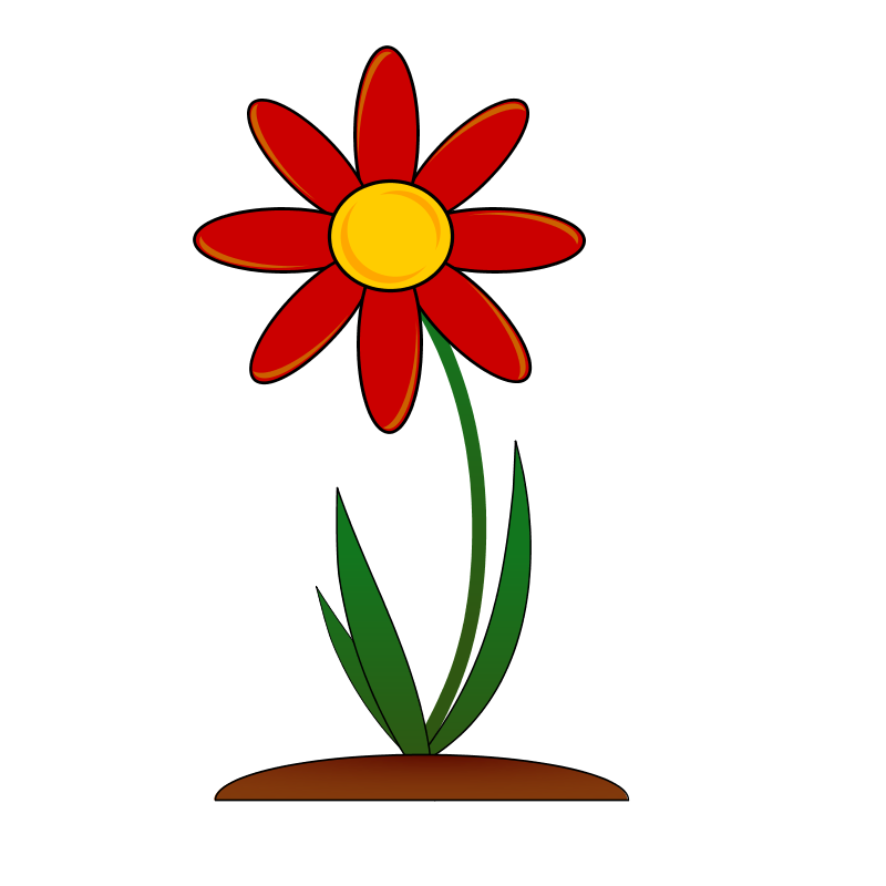One vector flower. Clip art drawing at