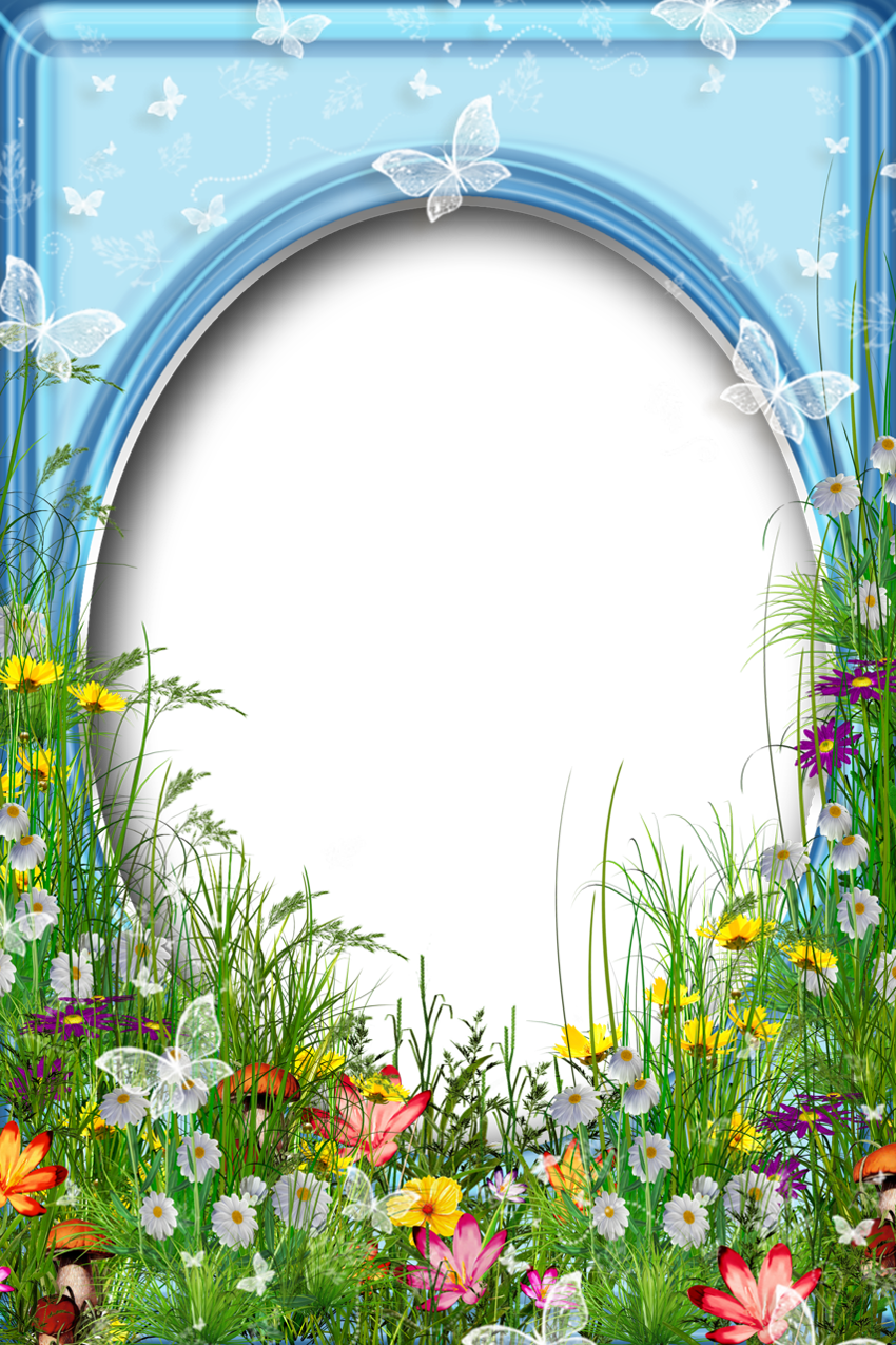 Spring frame png. Cute summer photo with