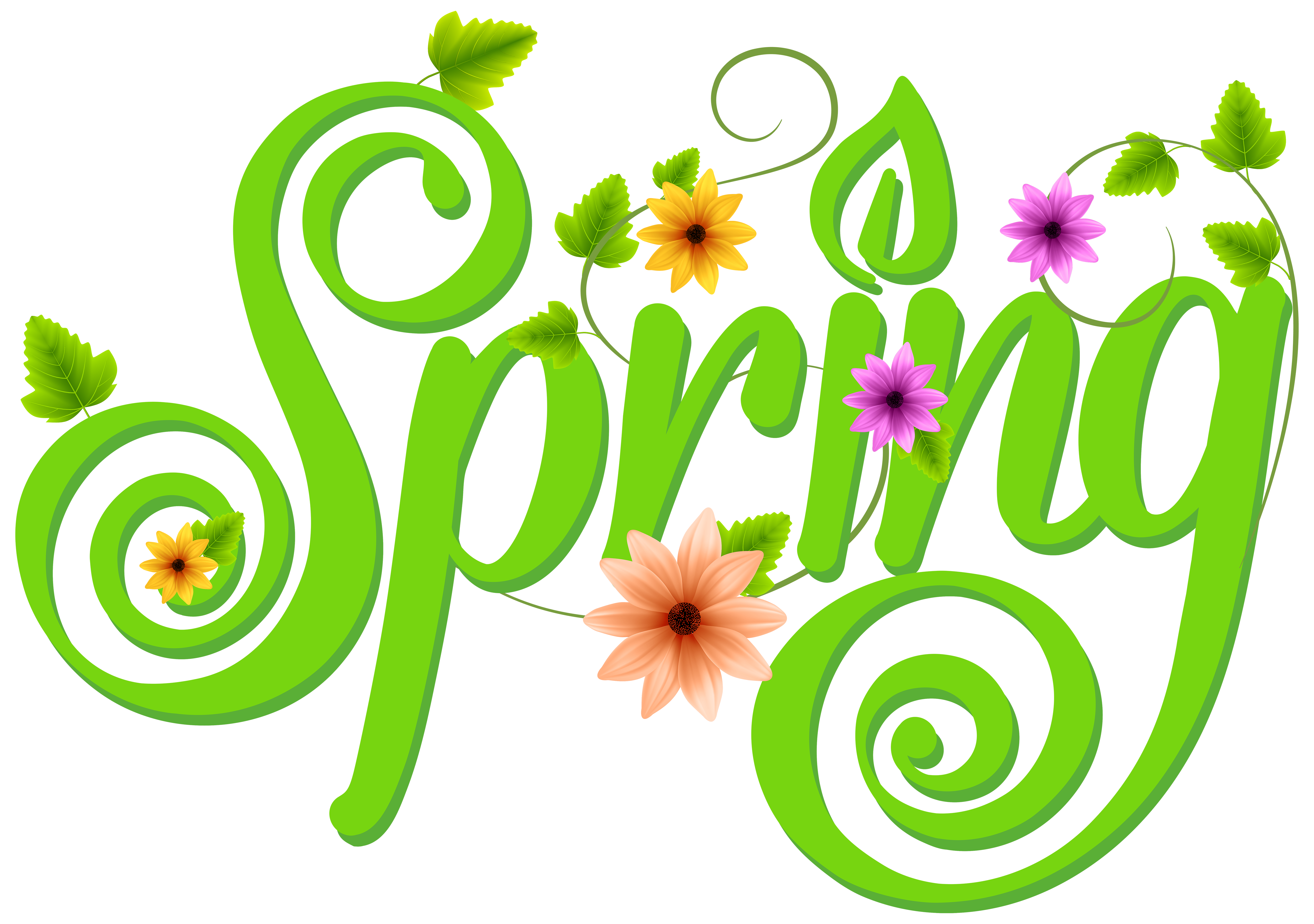 Spring text png. Transparent encode clipart to