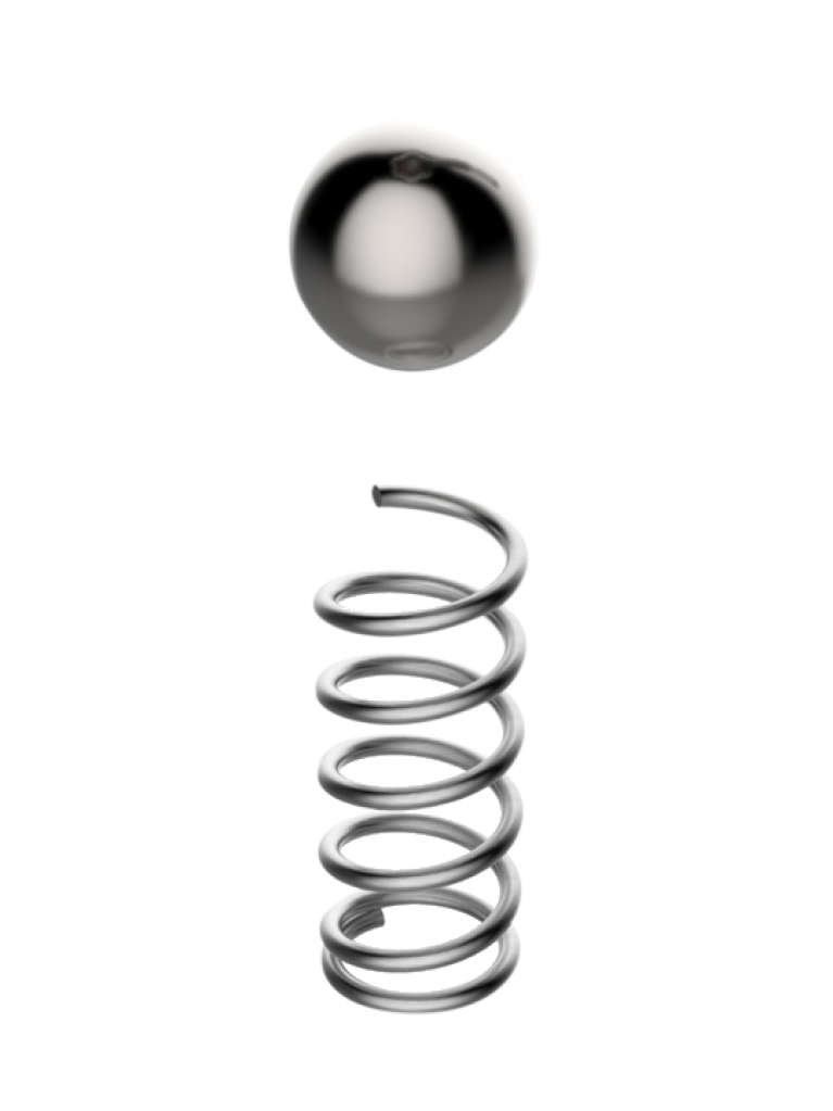 Spring metal png. Grainfather and ball for