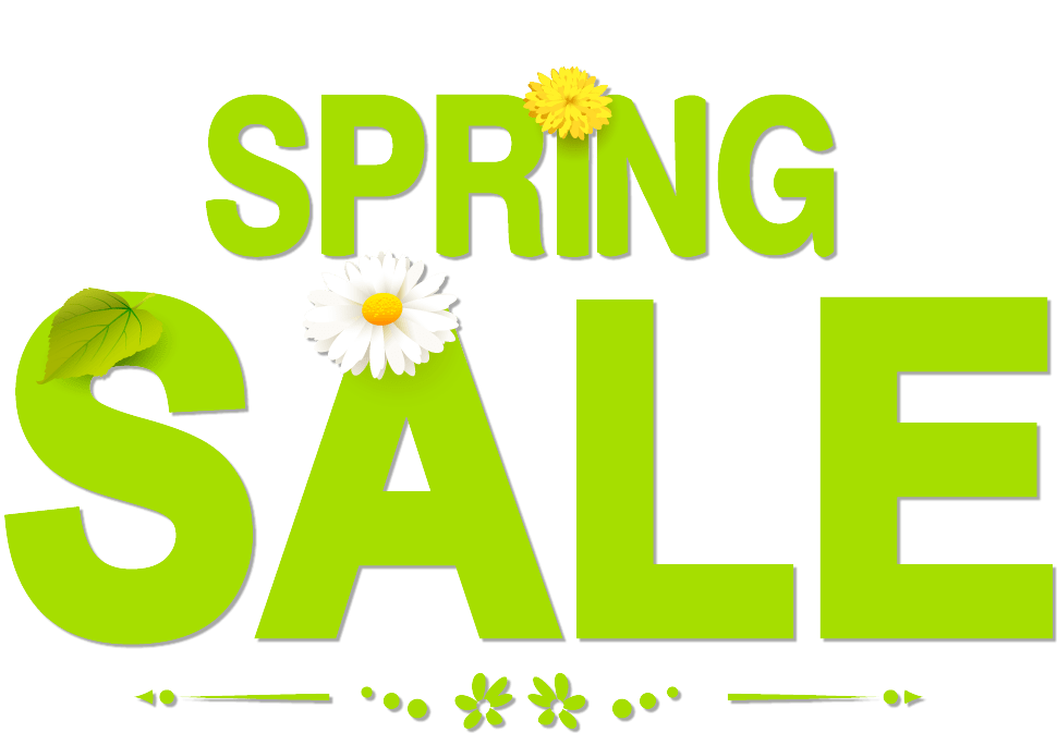 Sale transparent spring. Banners superwave now on