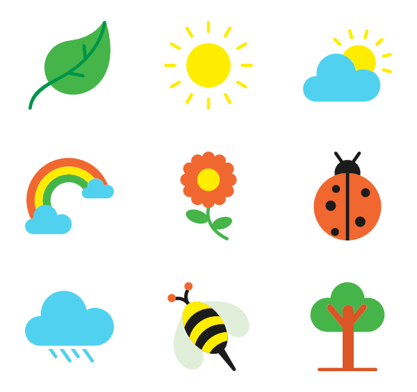 Vertical vector spring. Icons free