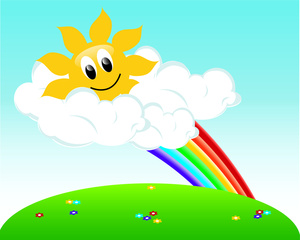 Springtime clipart rainbow. Free spring image weather