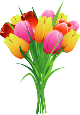 Tulips clipart. Free spring tulip cliparts