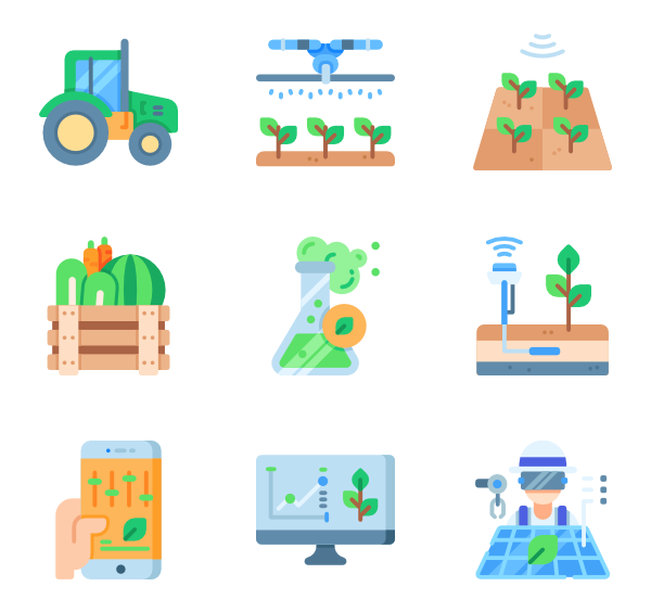 Sprinkler vector. Irrigation icons free smart