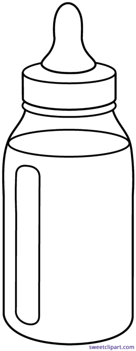 Sprinkles clipart bottle. Baby outline sweet clip