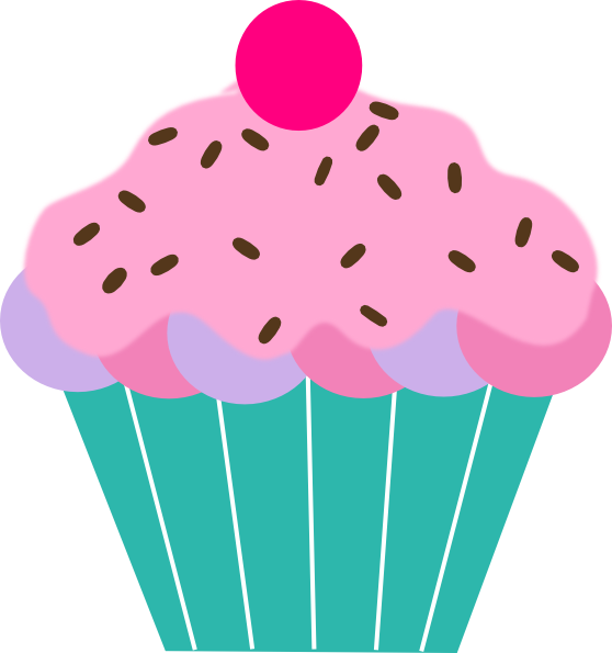 Pink cupcake png. With sprinkles clipart
