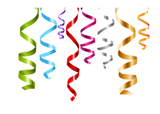 Streamers vector illustrator. Free gold confetti cliparts