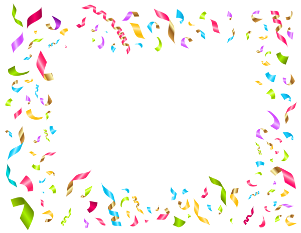 Sprinkles clipart confetti background. High resolution frames illustrations