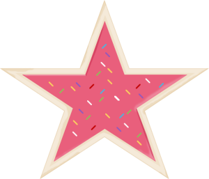 Sprinkles clipart frosted cookie. Star clip art image