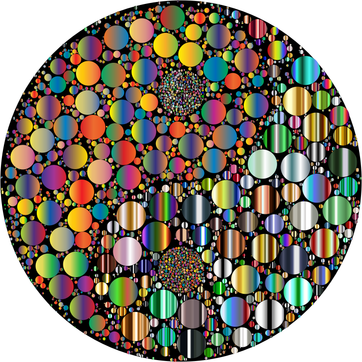 Sprinkles clipart round. Prismatic circles yin yang