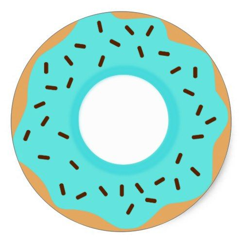 Sprinkles clipart round. Chocolate blue donut classic