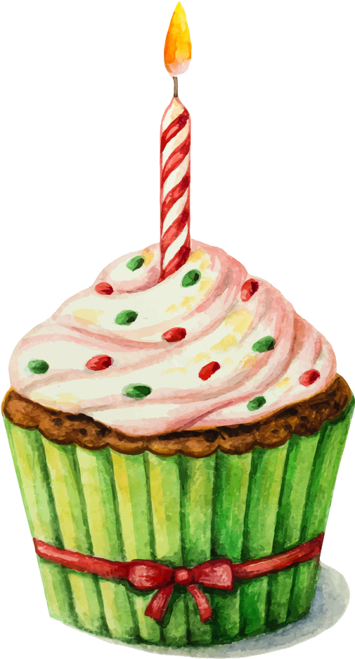 Sprinkles clipart watercolor. Birthday cake painting clip