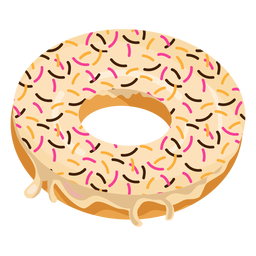 Doughnut transparent spiral. Sprinkles png or svg