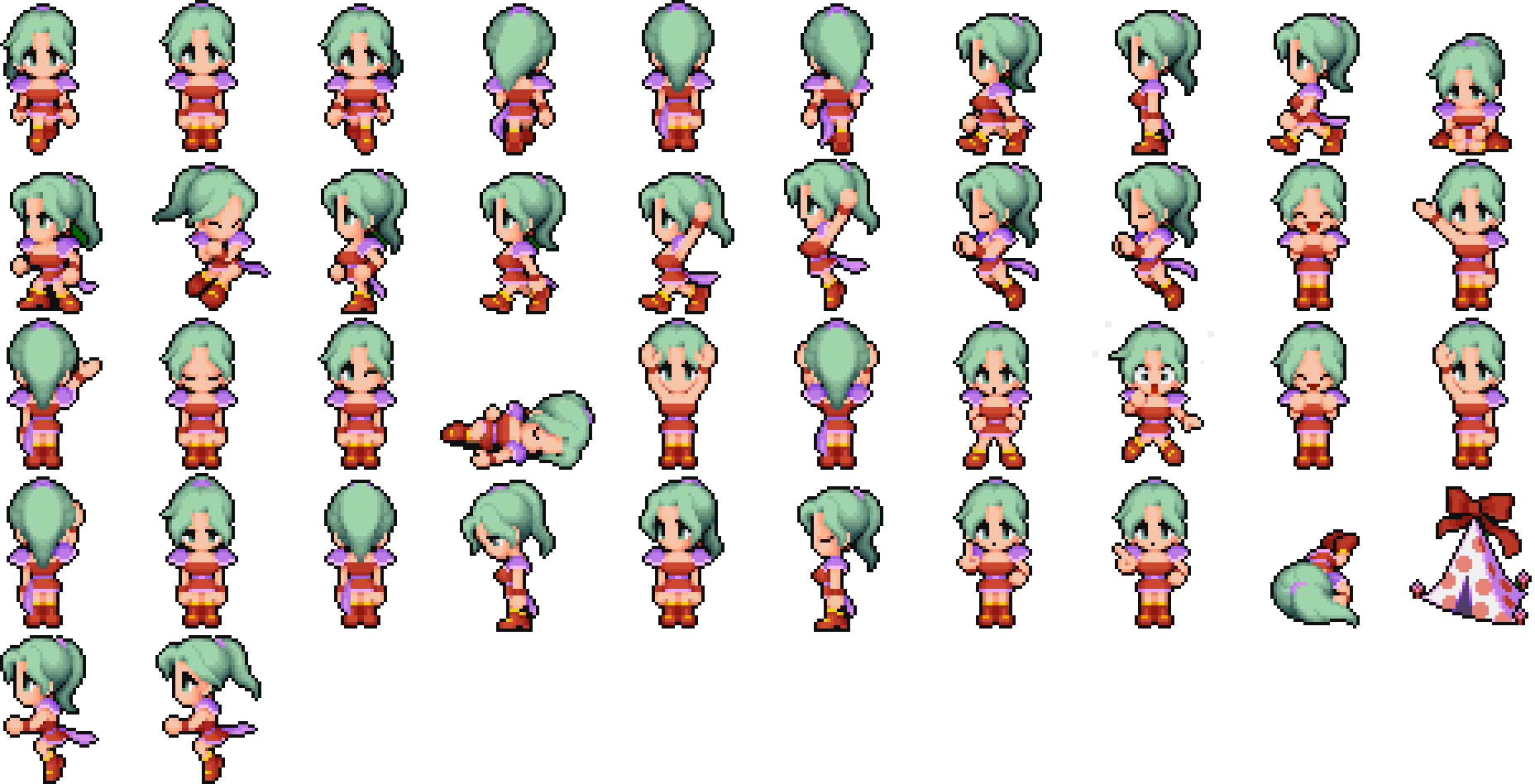 Transparent sprite character. Doing an hd remake