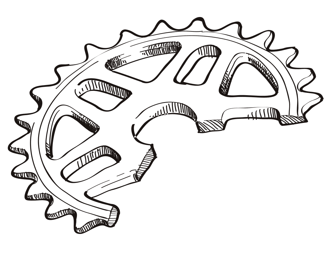 collection of bmx. Sprocket drawing banner freeuse stock